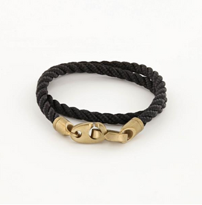 SAILORMADE JOURNEY DOUBLE ROPE BRACELET- BLACK