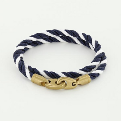 SAILORMADE JOURNEY DOUBLE ROPE BRACELET- NAVY | WHITE