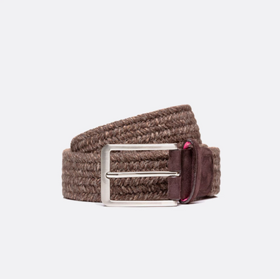 BELTOLOGY THERMAL WOOL BELT- BROWN