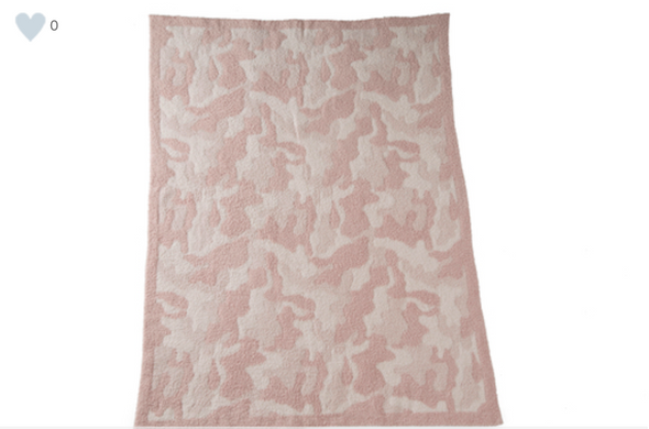 BAREFOOT DREAMS THE COZYCHIC® CAMO BABY BLANKET- DUSTY ROSE MULTI