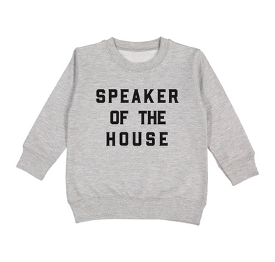 LOVE BUBBY SPEAKER OF THE HOUSE SWEATSHIRT