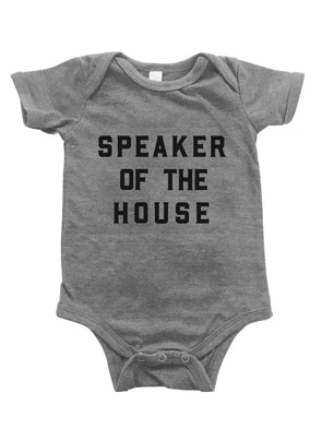 LOVE BUBBY SPEAKER OF THE HOUSE ONESIE