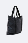 RAINS UNISEX TOTE BAG- BLACK