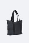 RAINS UNISEX TOTE BAG RUSH- BLACK