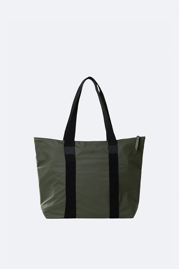 RAINS UNISEX TOTE BAG RUSH- GREEN