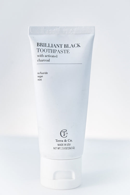 TERRA & CO. BRILLIANT BLACK TOOTHPASTE- TRAVEL SIZE