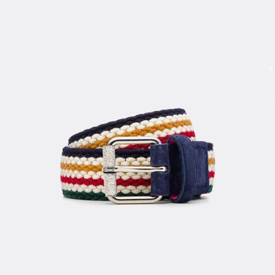 BELTOLOGY THERMAL STRIPES WOOL BELT- MULTI