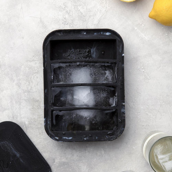 W&P MARBLE COLLINS ICE TRAY- BLACK