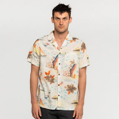 BANKS JOURNAL MEN'S SS SHIRT - RAINBOW