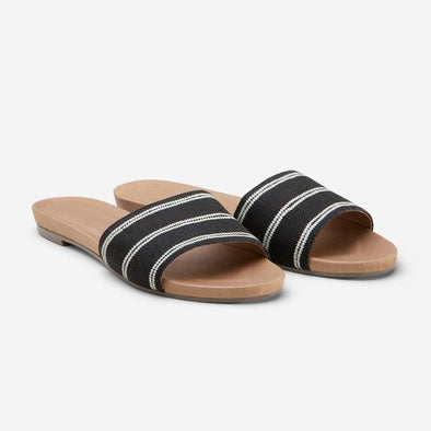HARI MARI WOMEN'S SYDNEY SANDAL - BLACK/NATURAL