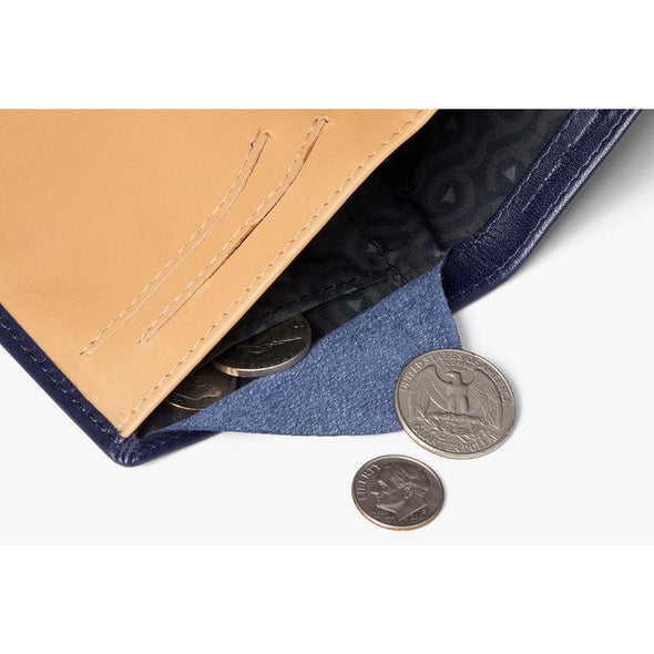 BELLROY LEATHER/ FRID NOTE SLEEVE WALLET- NAVY
