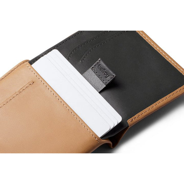 BELLROY LEATHER/ FRID NOTE SLEEVE WALLET- TAN