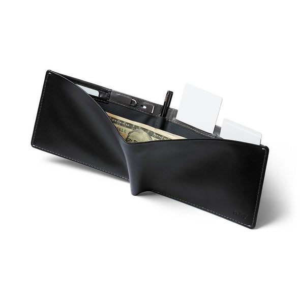 BELLROY LEATHER/RFID TRAVEL WALLET- BLACK