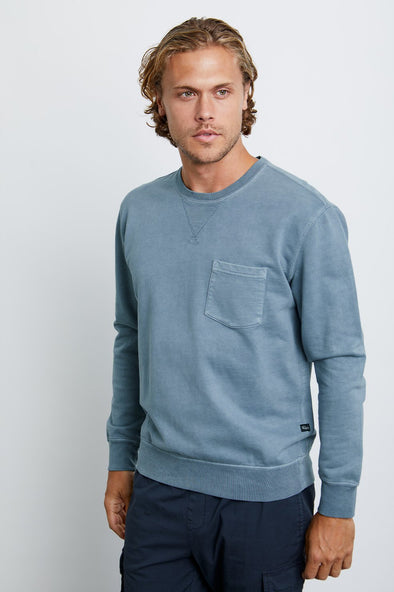 RAILS MEN'S BRUKE SWEATSHIRT - SLATE BLUE
