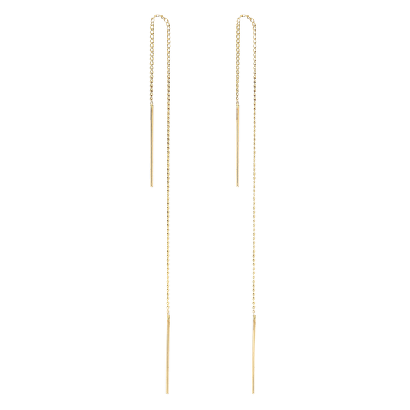 PHYLLIS & ROSIE CURB THREADERS- 14K GOLD FILLED