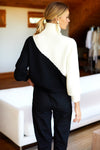 EMERSON FRY MILA SWEATER - BLACK + IVORY