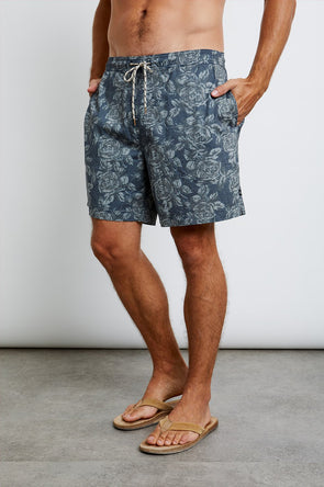 RAILS MEN'S KIAN SWIM SHORTS - CHARCOAL ROSE
