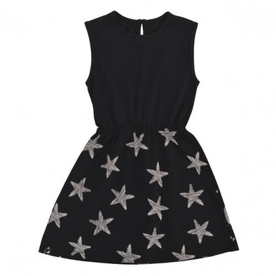 MOI SLEEVELESS DRESS- BLACK STARFISH
