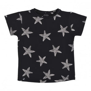 MOI T-SHIRT- BLACK STARFISH