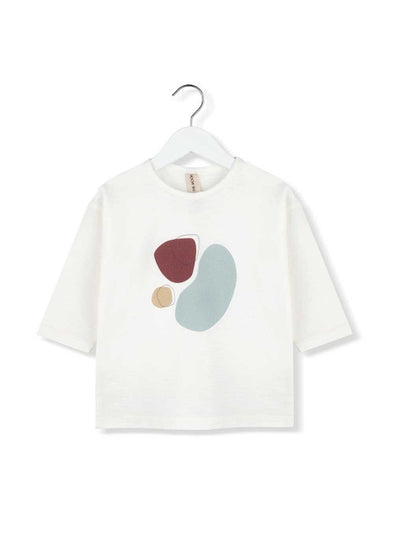 KIDS ON THE MOON 3/4 SLEEVE TOP - MOONBEAM