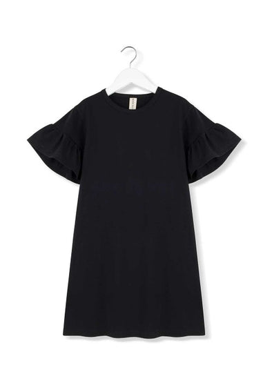 KIDS ON THE MOON RUFFLE DRESS- MOONLESS NIGHT