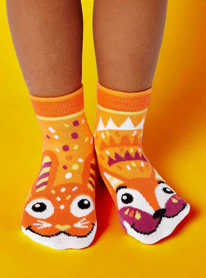 PALS SOCKS KIDS COLLECTIBLE MISMATCHED SOCKS- FOX & BUNNY