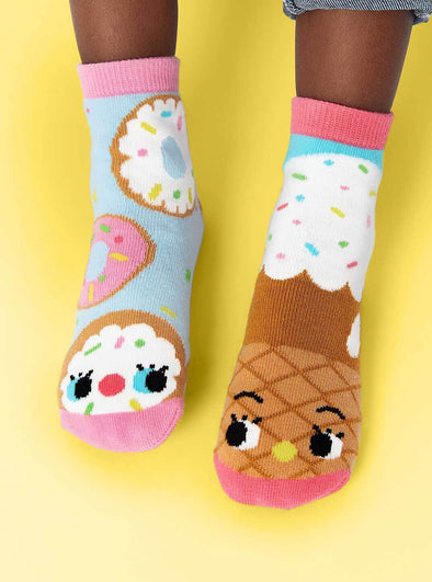 PALS SOCKS KIDS COLLECTIBLE MISMATCHED SOCKS- DONUT & ICE CREAM