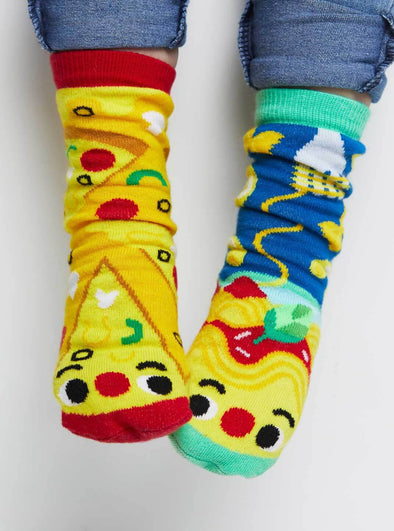 PALS SOCKS KIDS COLLECTIBLE MISMATCHED SOCKS- PIZZA & PASTA