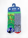 PALS SOCKS KIDS COLLECTIBLE MISMATCHED SOCKS- PEACOCK & ELEPHANT