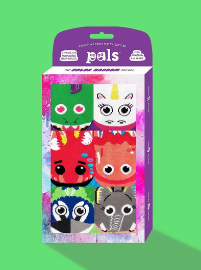 PALS SOCKS KIDS THREE MISMATCHED SOCKS SETS GIFT BOX- COLOR KABOOM