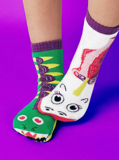 PALS SOCKS KIDS COLLECTIBLE MISMATCHED SOCKS- DRAGON & UNICORN