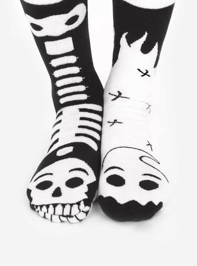 PALS SOCKS ADULT GLOW IN THE DARK SOCKS- GHOST & SKELETON