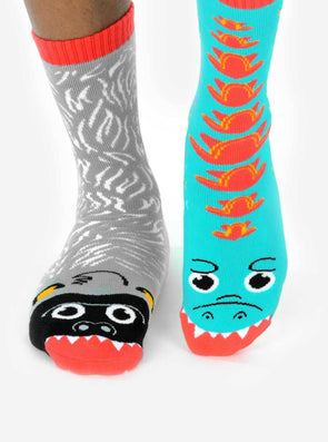 PALS SOCKS KIDS COLLECTIBLE MISMATCHED SOCKS- GIANT GORILLA & MUTANT LIZARD PALS