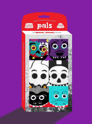 PALS SOCKS KIDS THREE MISMATCHED SOCKS SETS GIFT BOX- HEEBIE JEEBIES