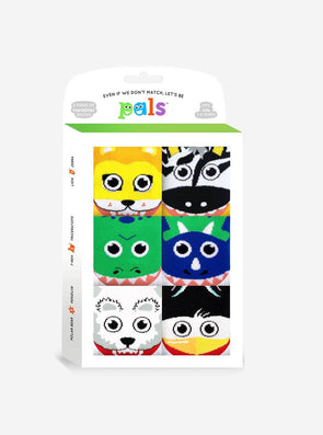 PALS SOCKS KIDS THREE MISMATCHED SOCKS SETS GIFT BOX- MIGHTY MATES