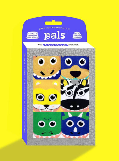 PALS SOCKS KIDS THREE MISMATCHED SOCKS SETS GIFT BOX- RAWRSOME