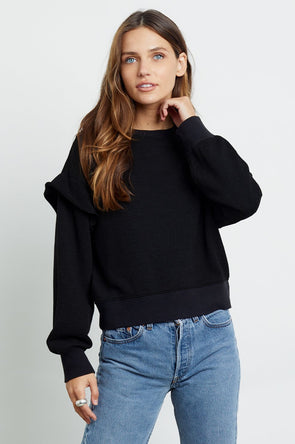 RAILS WOMEN'S PAULINE SWEATSHIRT - BLACK