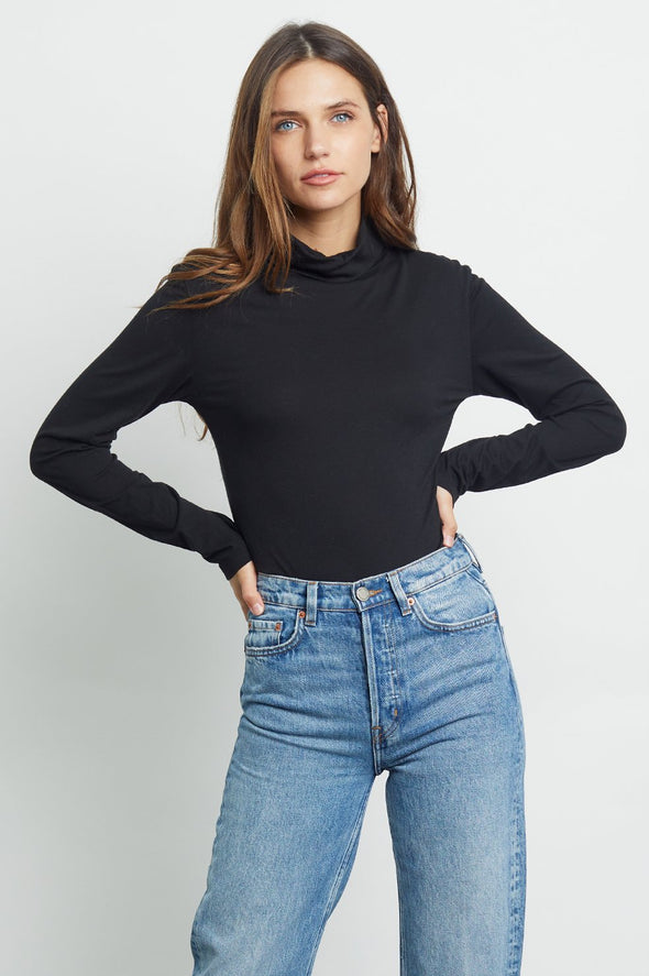 RAILS WOMEN'S RAY TURTLENECK - BLACK