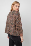 RAILS WOMENS REEVES SWEATER - MOUNTION LEOPARD
