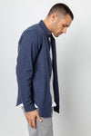 RAILS MEN'S RUNSON SHIRT - HEATHER BLUE