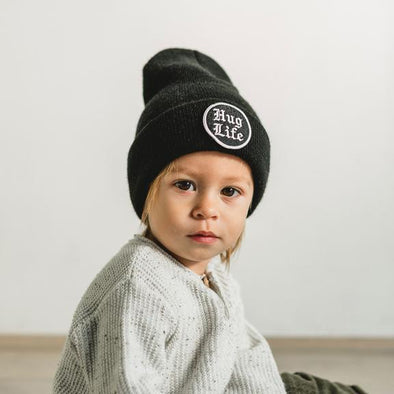 SEASLOPE INFANT/TODDLER HUG LIFE BEANIE - JET BLACK