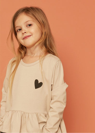 KIDS ON THE MOON FRILL BLOUSE - SNOWDROP