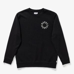 BANKS JOURNAL WEST COAST CREW FLEECE - DIRTY BLACK