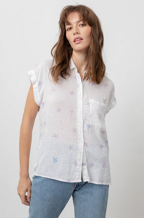 RAILS WOMEN'S WHITEY TOP - THE DYE STARS