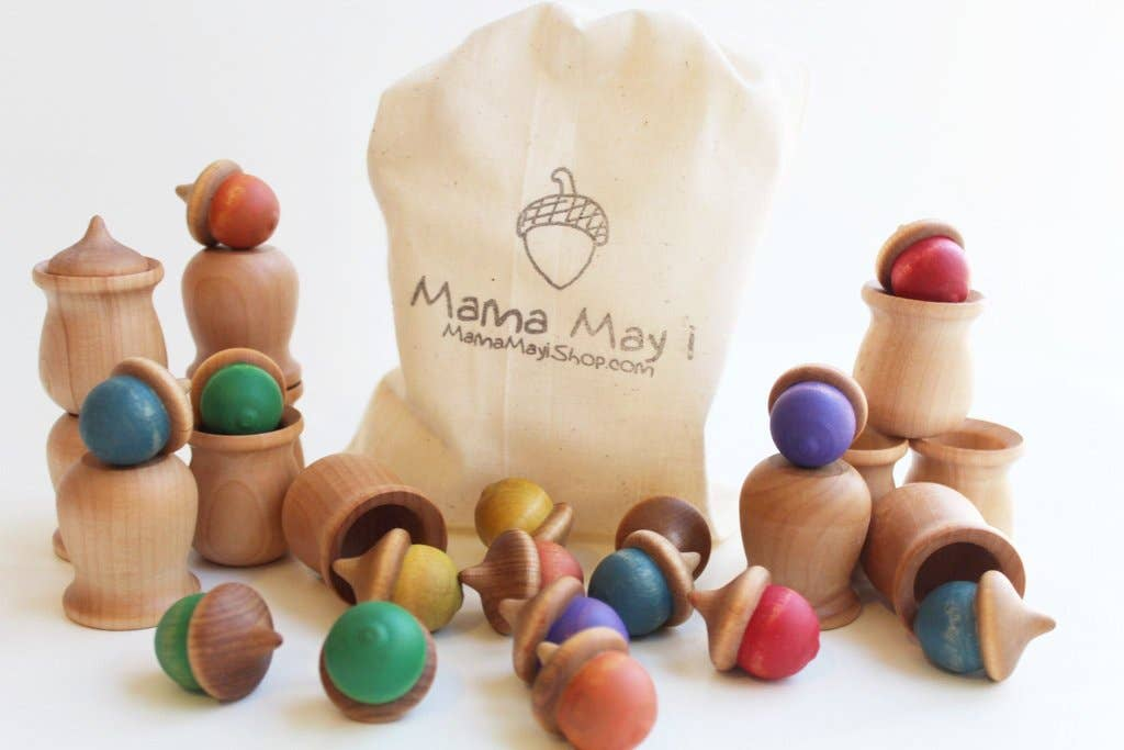 Wooden Acorn Play Set