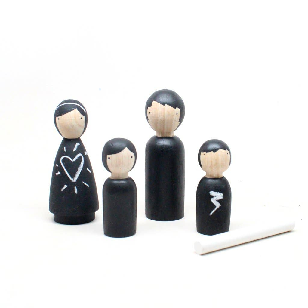 Chalk People Wooden Peg Dolls