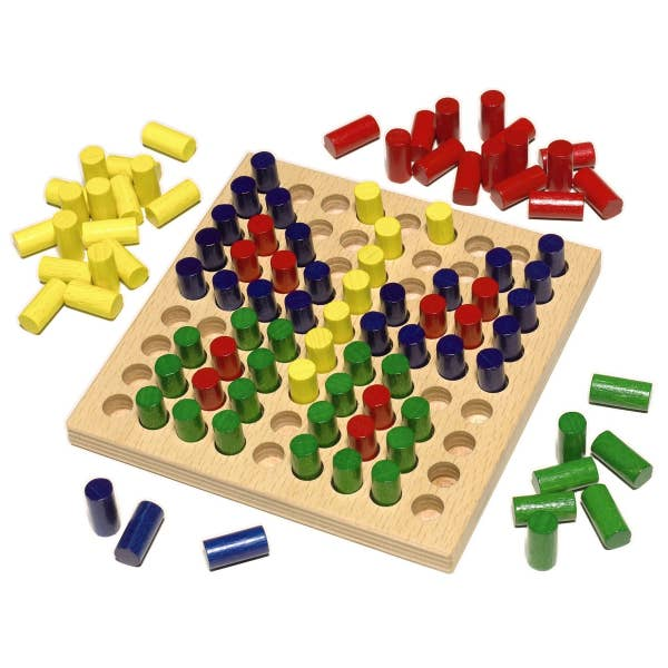 Color Peg Board & Activity Set