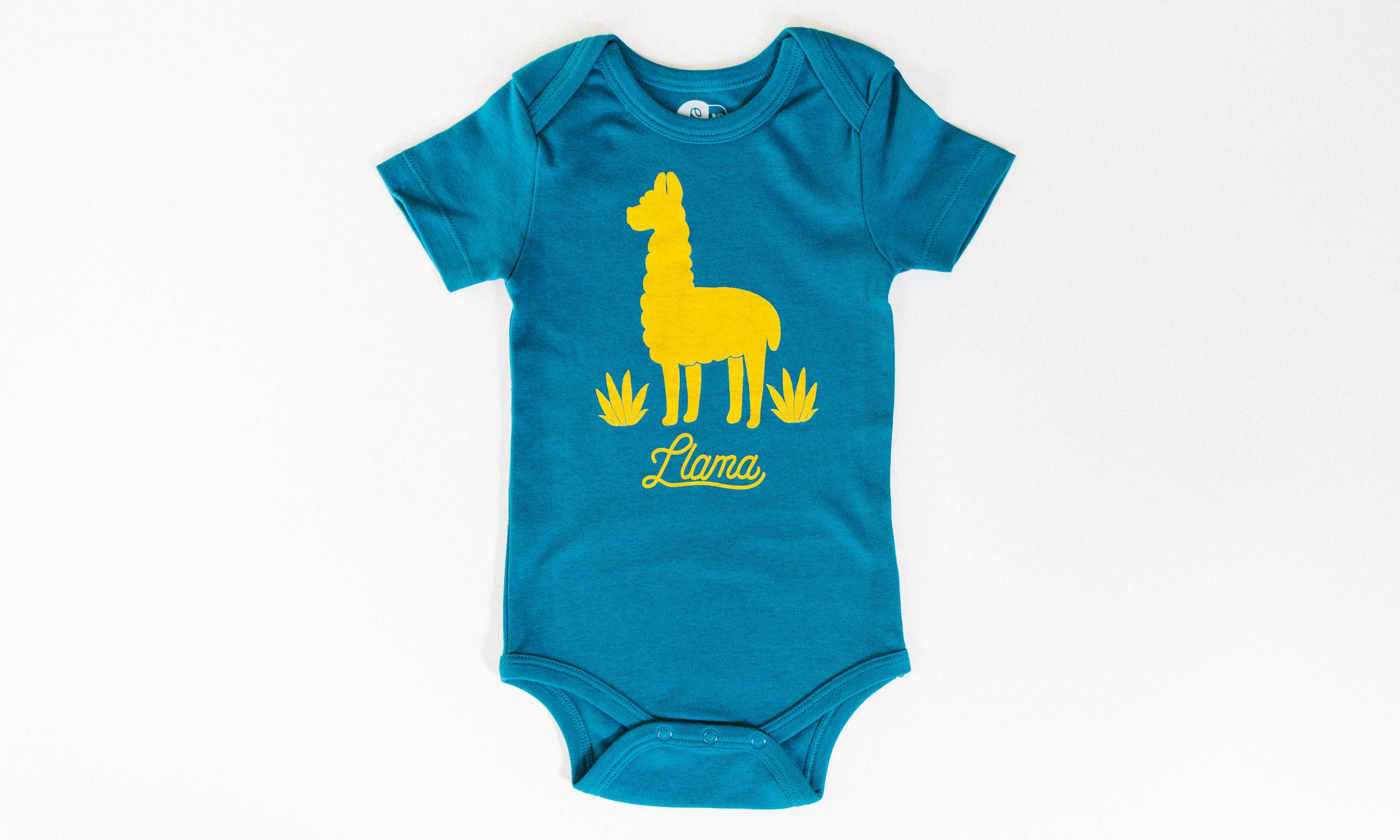 One for One Little Llama Blue Onesie