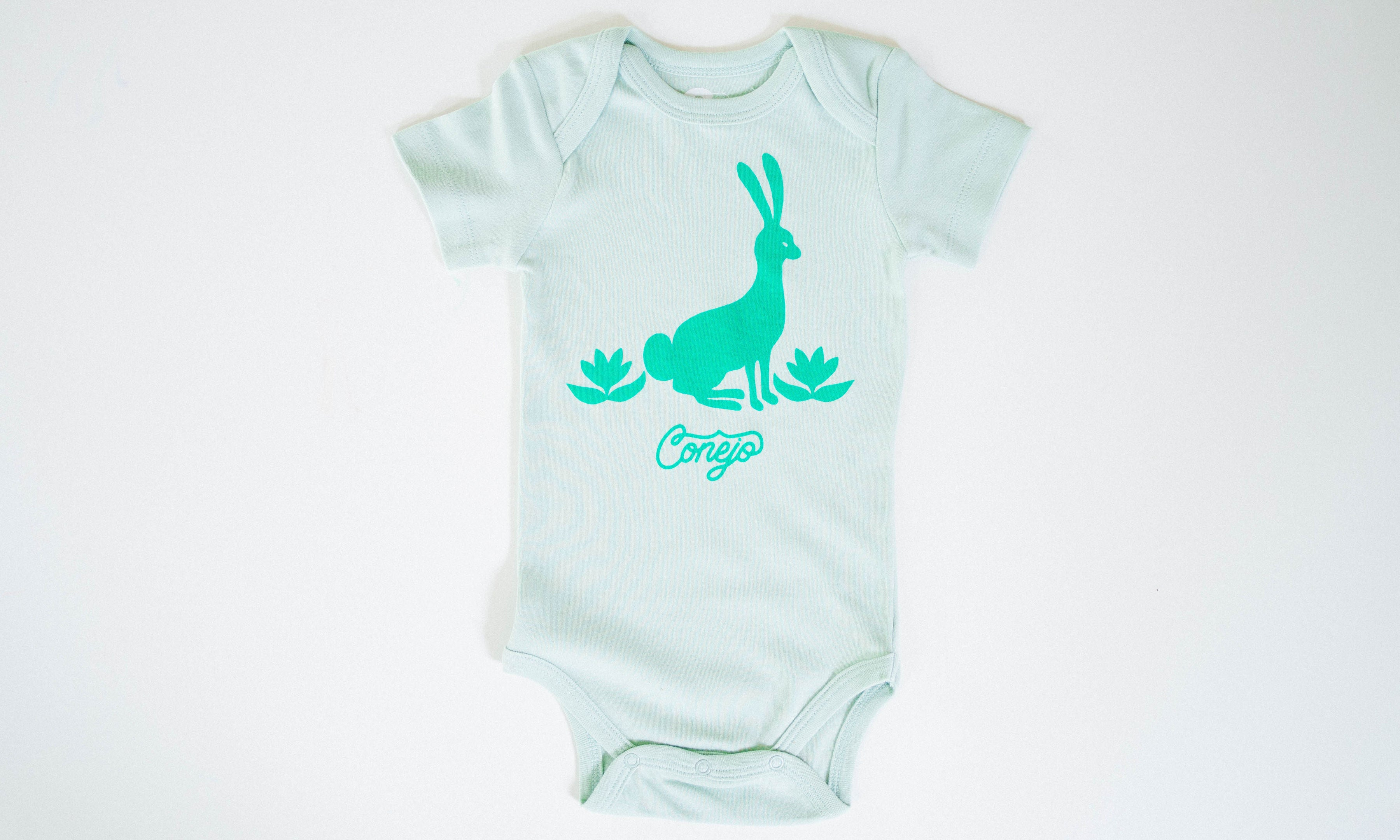 One for One Little Bunny Mint Onesie