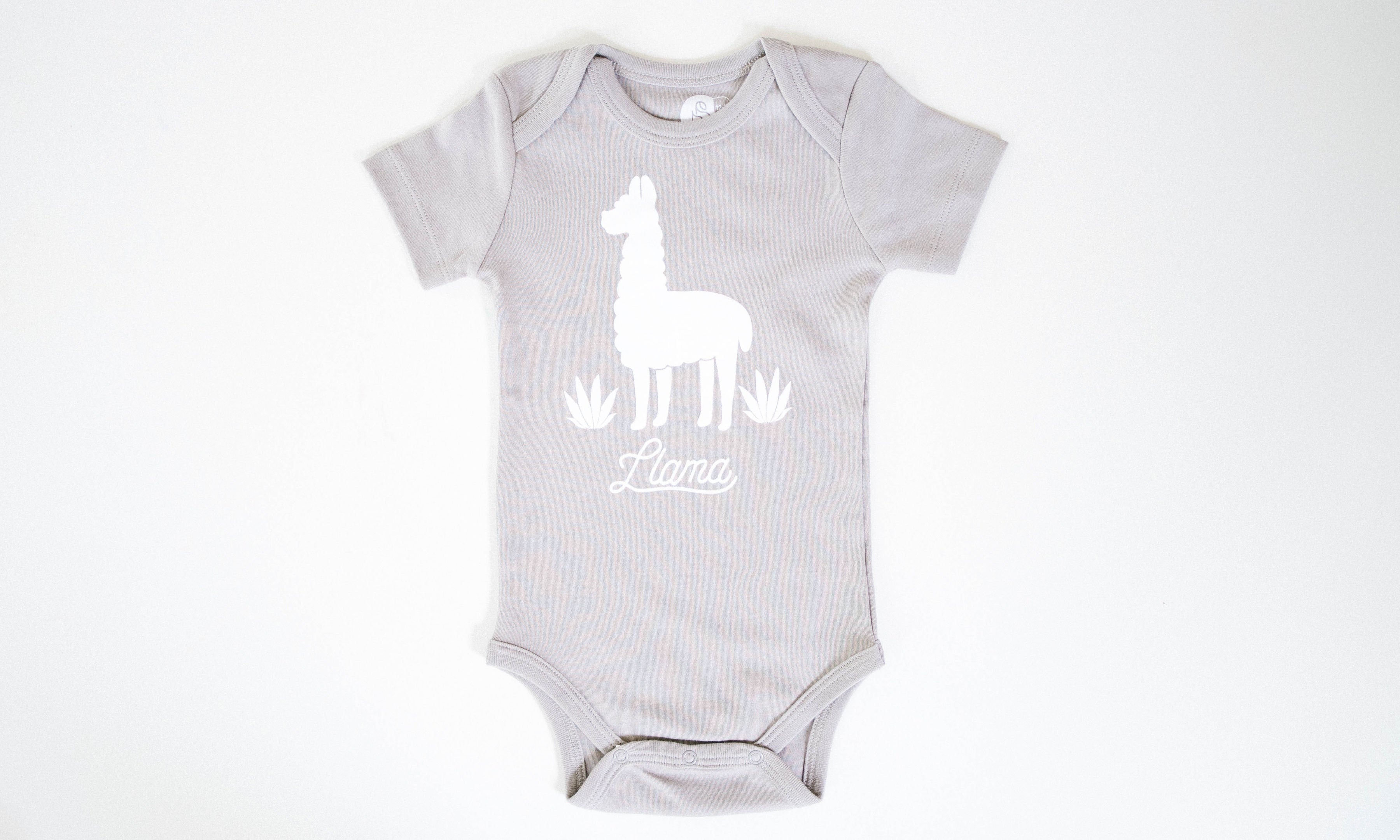 One for One Little Llama Grey Onesie